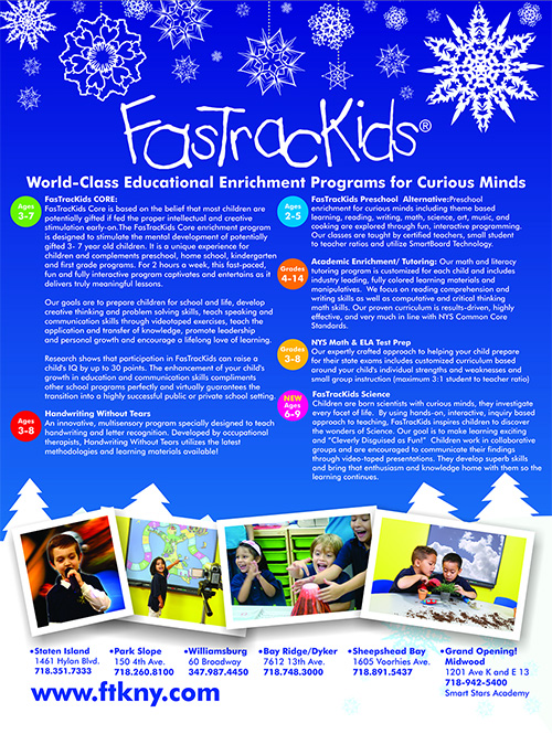 Tutoring and enrichment programs for curious minds - fastrackids new york city and brooklyn
