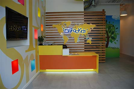 williamsburg preschool // fastrackids lobby
