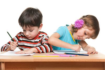 gifted & talented children taking a test - new york city brooklyn