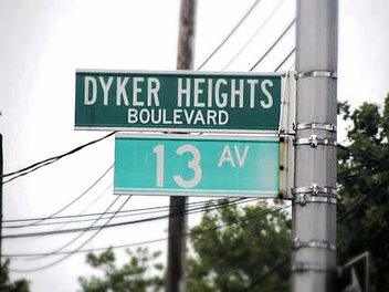 Dyker Heights 13th Ave street sign