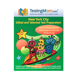 nyc gifted and talented practice test for K-1st grade by testingmom.com