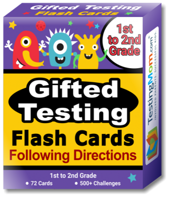 Buy Gifted Testing Following Directions Concepts Flash Cards pack (for 1st-2nd Grade)