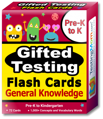 buy Gifted Testing General Knowledge Flash Cards pack (for Pre-K-Kindergarten)