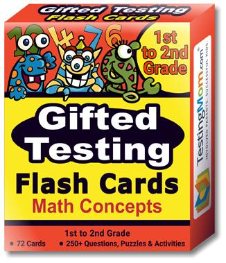 buy Gifted Testing Math Concepts Flash Cards pack (for 1st-2nd Grade)