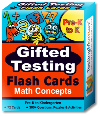 buy Gifted Testing Math Concepts Flash Cards pack (for Pre-K-Kindergarten)