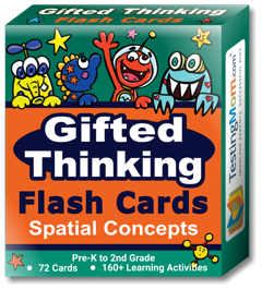 Buy Gifted Thinking Spatial Concepts Flash Cards pack for Pre-K-2nd Grade